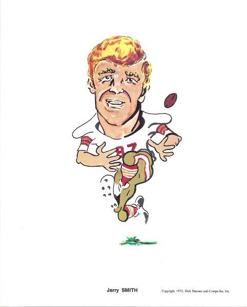 1972 Compu-Set Redskins Jerry Smith