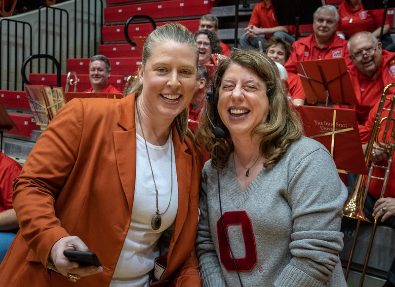OSU and WNBA legend Katie Smith was in the house, and stopped by to greet the band