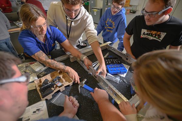East Noble High School Students make Robotics Project