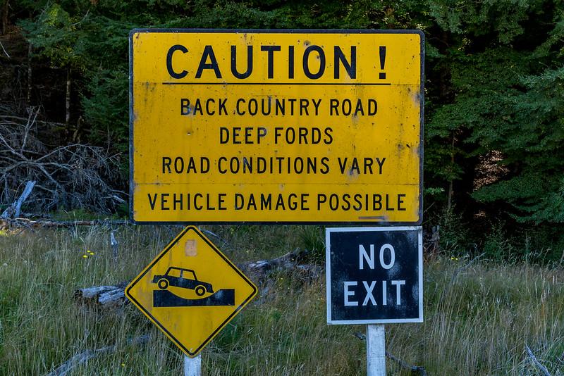 Die Warnung ist berechtigt, an der letzten Flussüberquerung musste ich passen