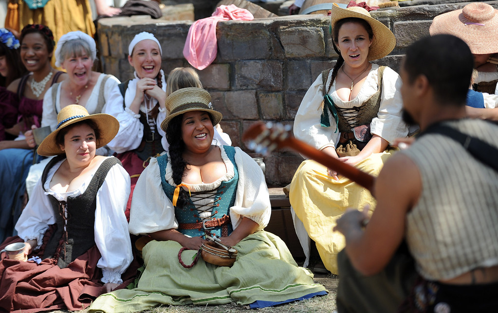 . Performers enjoy opening day of the Renaissance Pleasure Faire at Santa Fe Dam Recreation Area in Irwindale, Calif., on Saturday, April 5, 2014. 