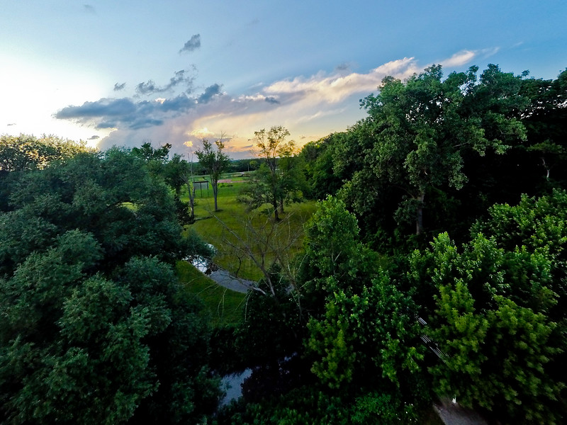 Summer Sunset at the Park 22 : Aerial Photography from Project Aerospace