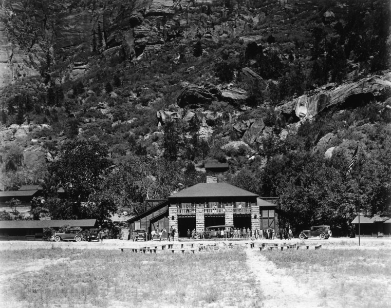 Utah Parks Co., Zion Lodge. (Union Pacific Historical Collection)