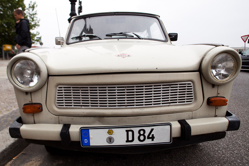 Old Trabant car, Berlin, Germany