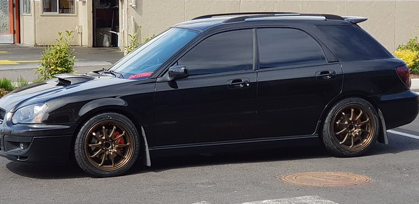 Mike's 2004 WRX on 17x8 Rota DPT in Sports Bronze