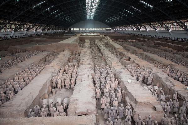 Terracotta Army (Terracotta Warriors and Horses) in Xian