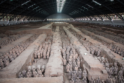 Terracotta Army (Terracotta Warriors and Horses) in Xian
