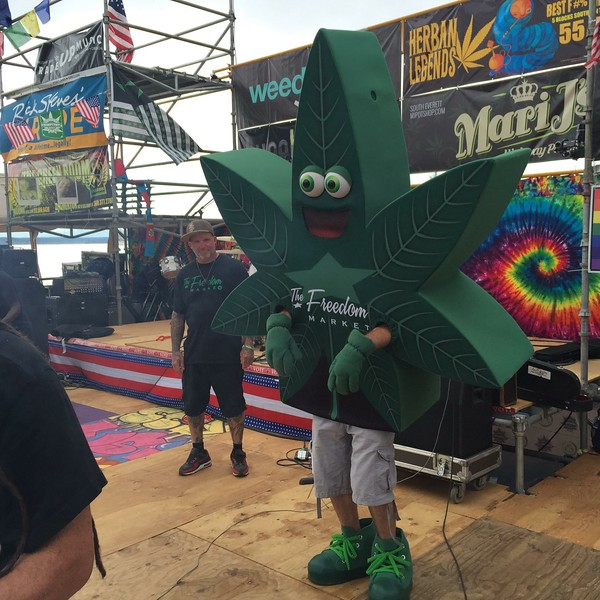 Photo by Hempfest General Manager, Sharon Whitson