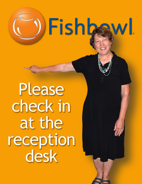 2012-8-1 ––– Our receptionist, Marilyn, has been faithful at eating right and has done a great job trimming down. She asked that I re-shoot the sign at our office entrance so it reflected who she is today. Here is the old image: http://ow.ly/cTveM