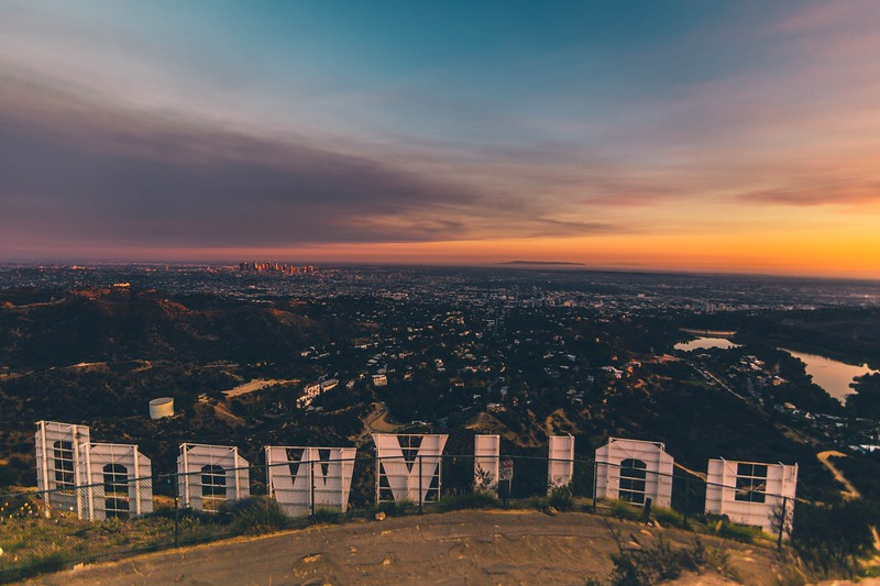 Hollywood Sign at Sunset