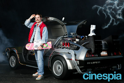 back to the future photo booth