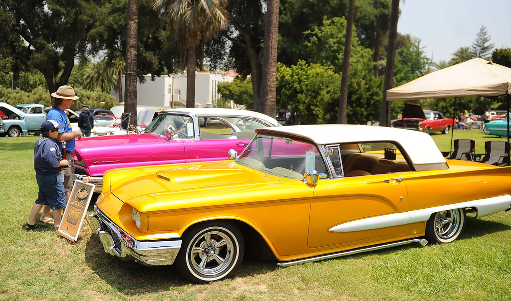 . The 22nd annual Optimist Car Show was held at Sylvan Park Saturday May 18, 1013 in Redlands. The event feature classic cars, a chili cook-off, food trucks, a beer garden and more. Proceeds will benefit the non-profit organization and its community projects. LaFonzo Carter/ Staff Photographer