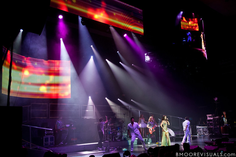 Selena Gomez and The Scene perform in support of When The Sun Goes Down in Clearwater, Florida on July 30, 2011