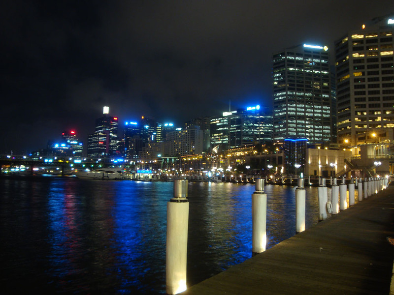 When the work was all done it was a chance to see the stunning cityscape by night. This is Darling Harbour.