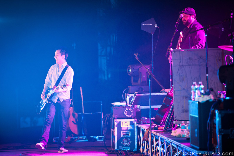 "Hai Phung and Gabe Ruschival perform with Brandon Heath in support of Heath's upcoming album ""Leaving Eden"" on October 23, 2010 at Countryside Christian Center in Clearwater, Florida"