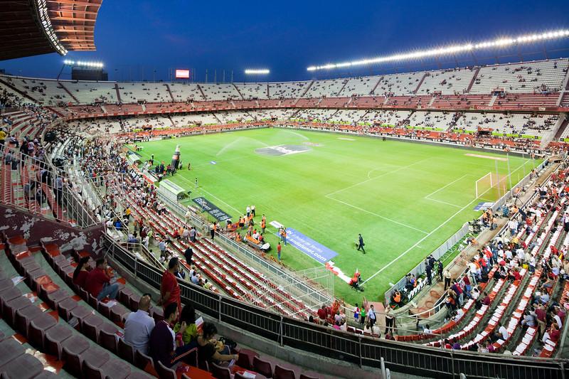 View of Sanchez Pizjuan Stadium before a game