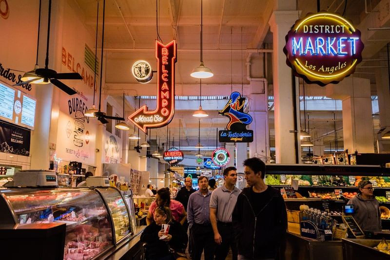 grand central market - great place for food on any los angeles weekend trip