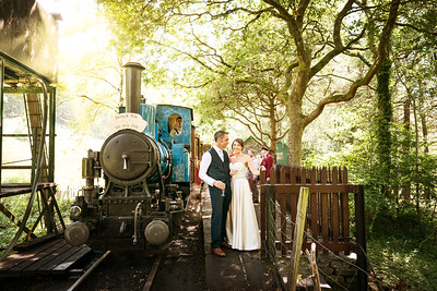 Becky and Mike North Wales Steam Railway Wedding