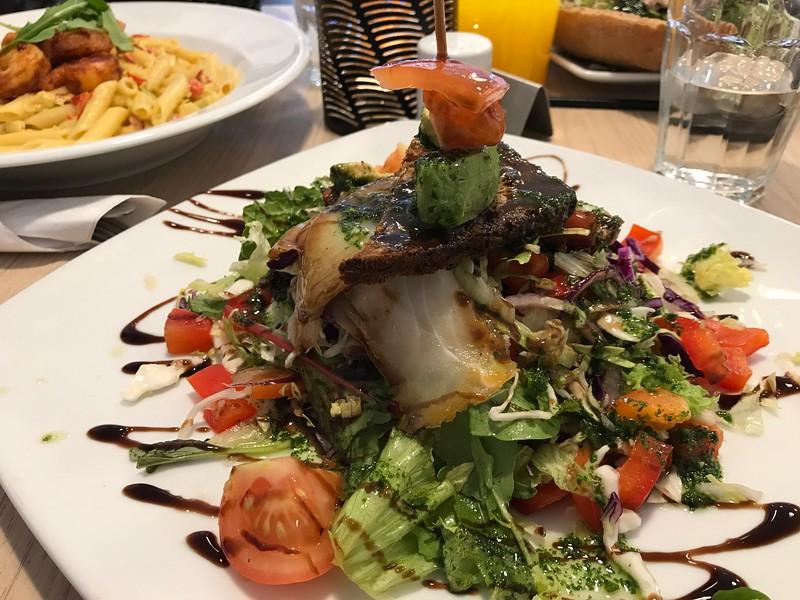 Amazing smoked cod salad in Nuuk