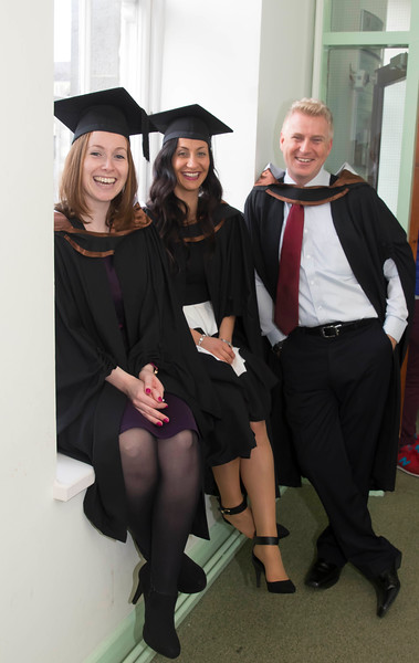 29/10/2015. Waterford Institute of Technology Conferring. Pictured are Patricia Scanlon, Waterford and Christine and Andrew Chase, Drogheda who BA (Hons) in Finance & Investments. Picture: Patrick Browne