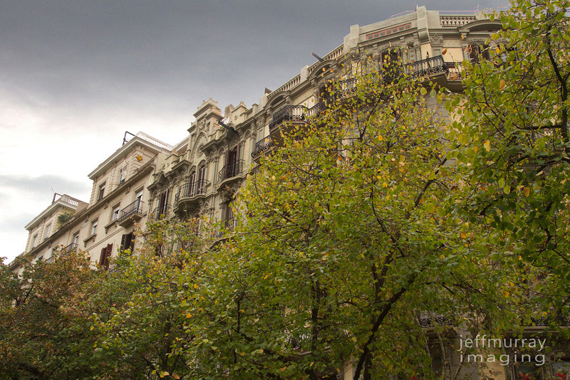 Some of the apartments on a walk down La Rambla.  I spent a lovely day off - smelling the coffee and paella on a stroll to the Cathedral.