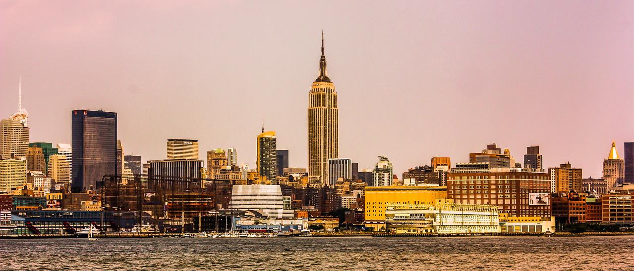 纽约大都市,隔岸观景