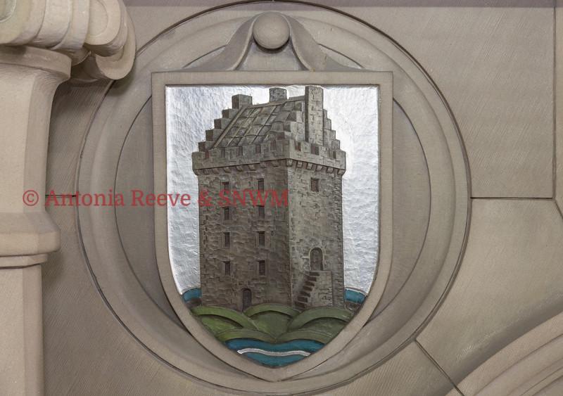 Stone Carved Shield,  Kinross