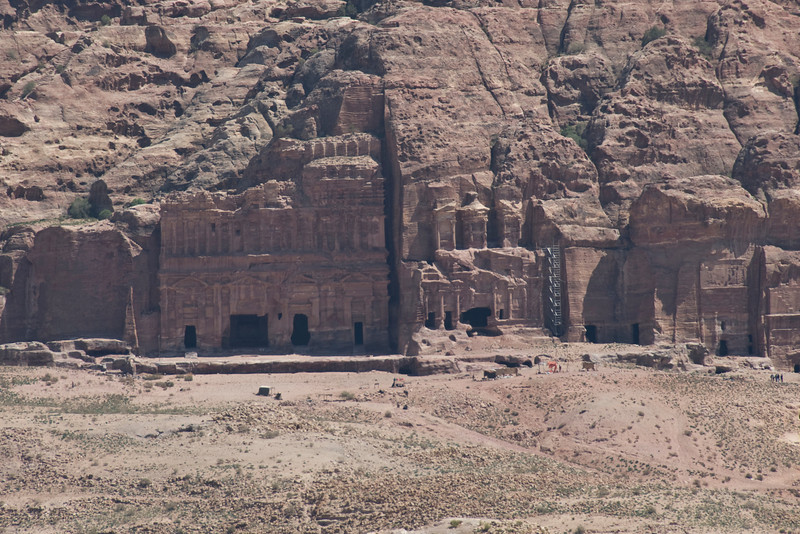 Ancient stone dwellings in Petra, Jordan