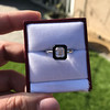 1.19ct Vintage Emerald Cut Diamond Onyx Ring, GIA E VS2 28