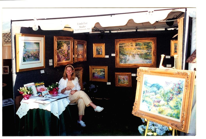 Linda at Newport Flower Show Booth.jpg