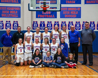 LB Girls' Basketball DIII Sectional Champions (2021-02-20)