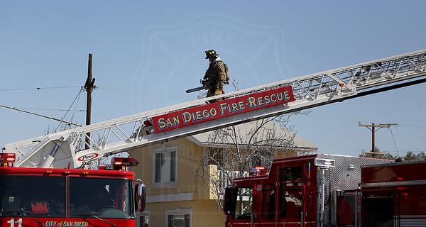 San Diego, CA - Working Fire - 4175 Poplar Street - February 26, 2018