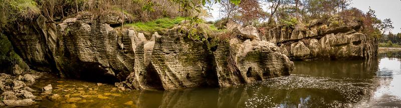 Kalksteinformationen im «Paynes Ford Scenic Reserve»