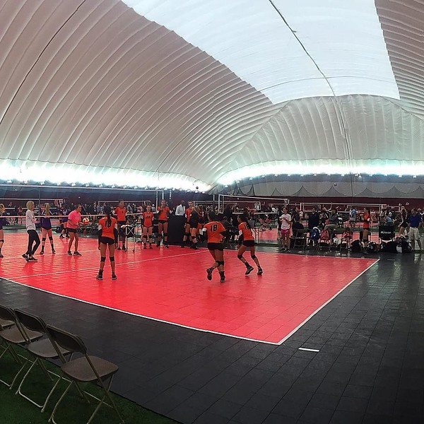 32 courts. 4 teams per court. 12 kids per team. That's a lot of tween volleyball. Go get 'em @kaylakat25