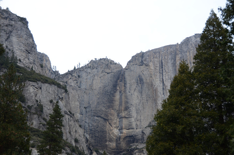 On our arrival, Yosemite Falls is dry.