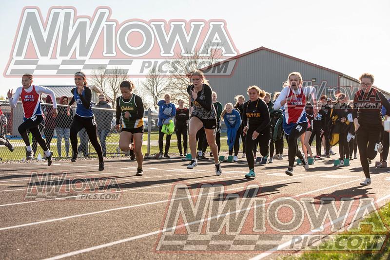 West Sioux Girls Track - War Eagle Meet 2021