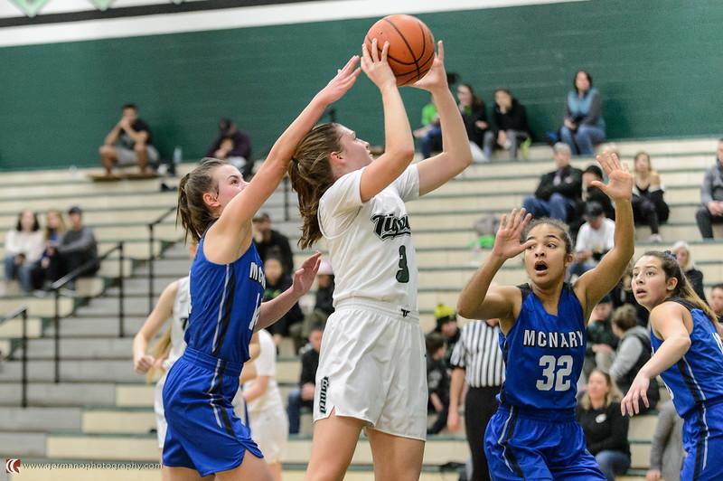 THS Girls Varsity BB vs McNary - Playoff Round 1