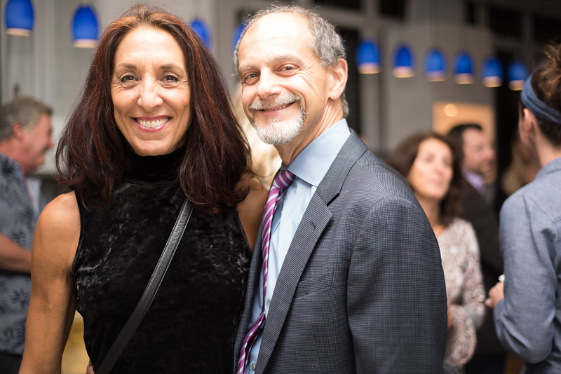 Dr. Ira Grvshack and Dr. Jo. Eoisman are  all smiles after winning the raffle for a free night stay at the beautiful Allegria Hotel in Long Beach..jpg