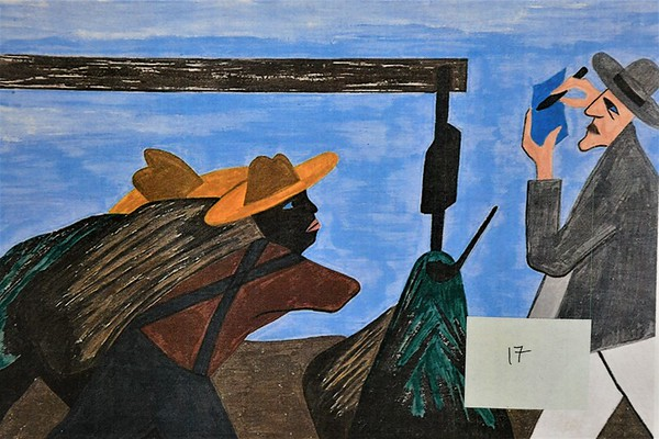 """Eighth Graders Study """"The Great Migration"""" through Art"""
