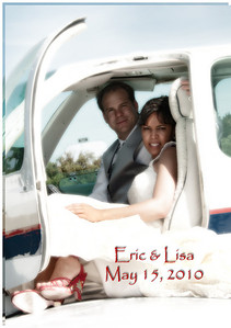 Lisa & Eric Plane Pictures