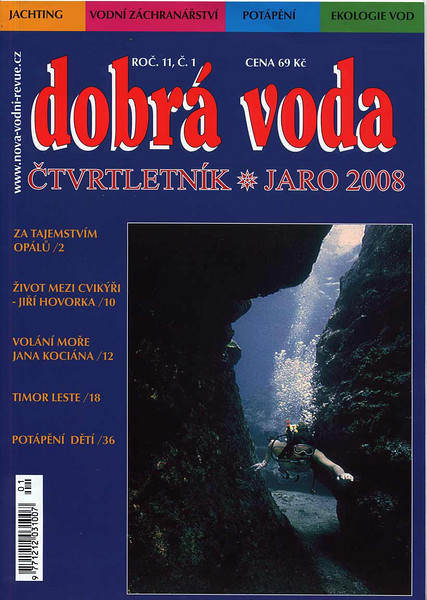 Czech Diving magazine, Spring 2008 issue. Cover photo taken at Cayman Brac.