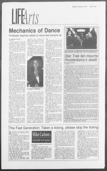 Daily Trojan, Vol. 116, No. 40, October 28, 1991