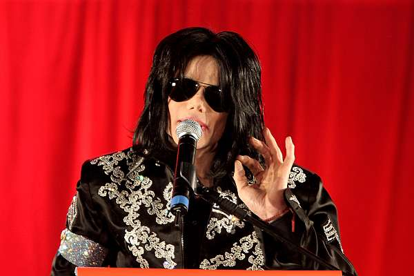 . Michael Jackson attends a press conference to announce plans for a summer residency of concerts at the O2 Arena, Grenwich on March 5, 2009 in London, England.  (Photo by Dave Hogan/Getty Images)