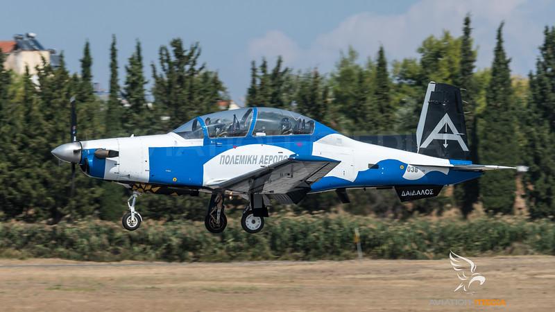 Hellenic Air Force / Beechcraft T-6 Texan II / 036 / Deadalus Livery