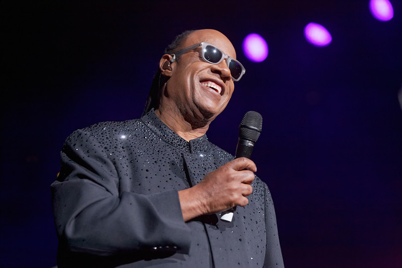 . Stevie Wonder at the Palace of Auburn Hills on Nov. 20, 2014. Photo by Ken Settle