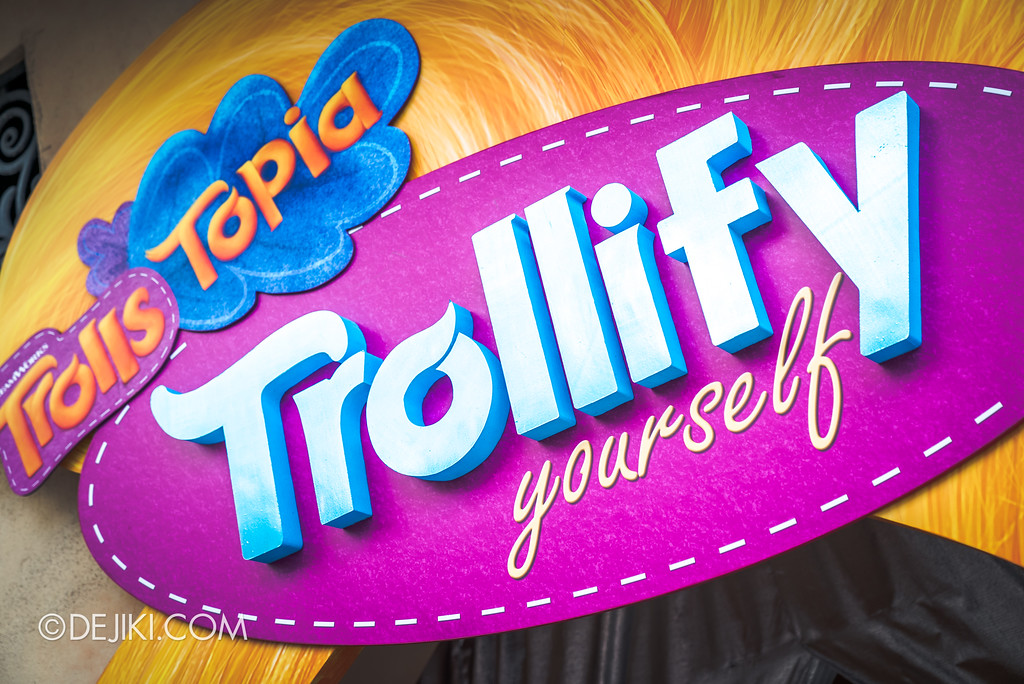 Universal Studios Singapore Park Update March 2018 TrollsTopia event - Trollify yourself zone