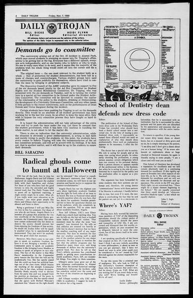 Daily Trojan, Vol. 61, No. 39, November 07, 1969