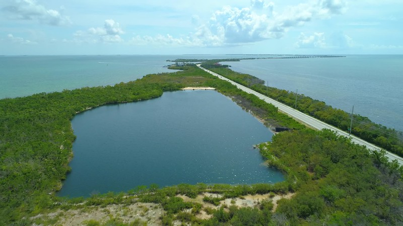 Aerial shot Florida Long Key 4k