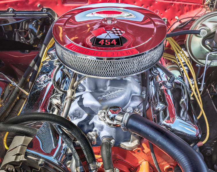 454 engine at Georgetown Car, Plane and Motorcycle show.