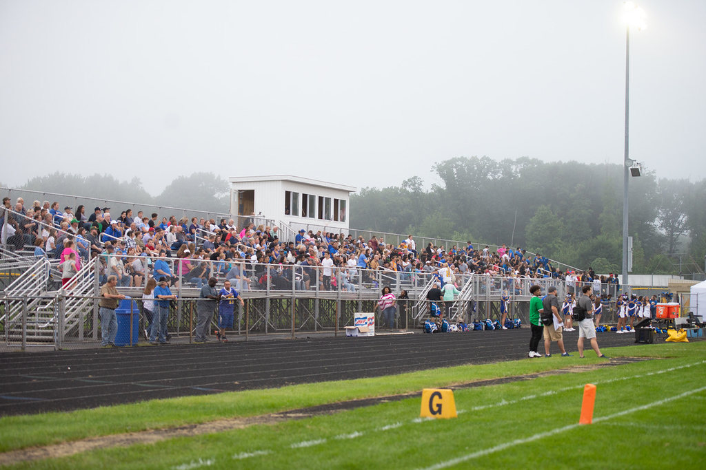 . Aimee Bielozer - The Morning Journal<br> Clearview\'s fans take in the game as the Clippers faced the Wellington Dukes on Sept. 14.